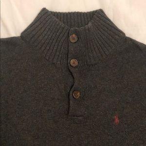 Men's Polo Knit Pullover Sweater, Medium